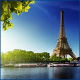 Eiffel tower, blue sky