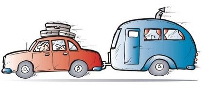 sketch of car and trailer