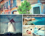 Photo collage of Balearic Islands