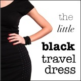 close up of shapely little black travel dress