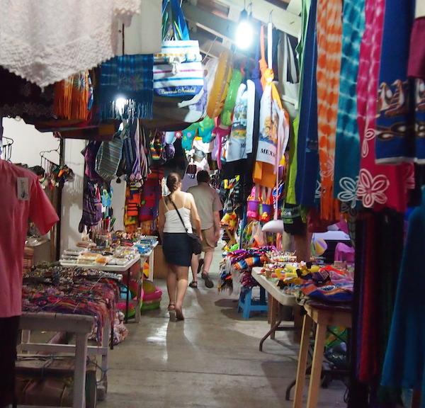 colorful sidewalk shop