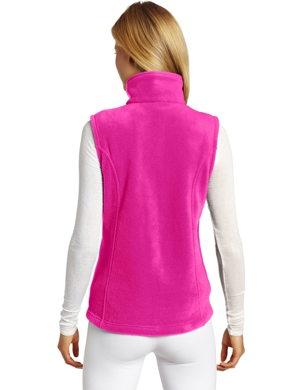 back of fleece travel vest