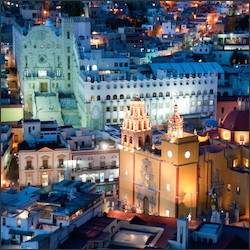 Guanajuato city at night