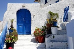 front door of greek residence