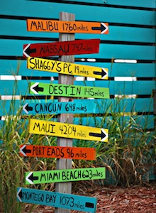 colorful directional signs