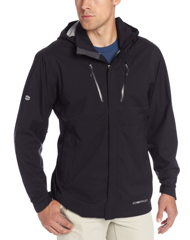 men's black travel windbreaker