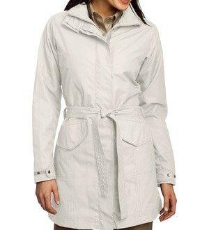 white trench travel coat