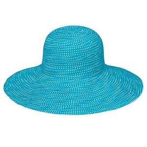 Turquoise crushable wallaroo sun hat