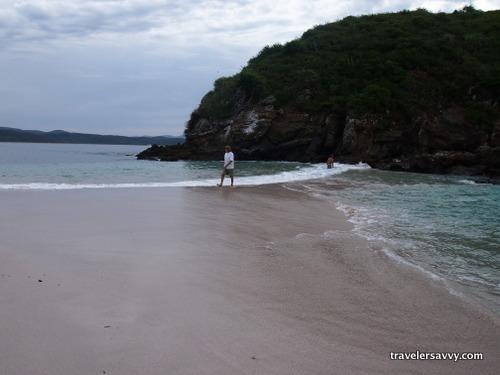 2 beaches that meet at high tide