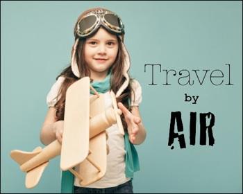 girl holding airplane - take flight