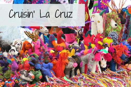 brightly colored toys at la cruz market