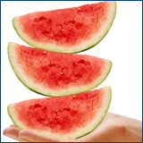 wedges of watermelon
