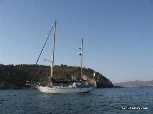 Pacific Jade at anchor